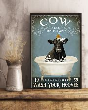 Cow Bath Soap Established Wash Your Hooves 11x17 Poster lifestyle-poster-3