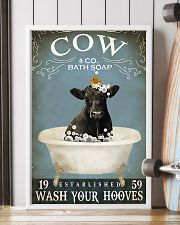 Cow Bath Soap Established Wash Your Hooves 11x17 Poster lifestyle-poster-4