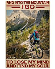 Into Mountain Cycling 11x17 Poster front