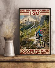 Into Mountain Cycling 11x17 Poster lifestyle-poster-3