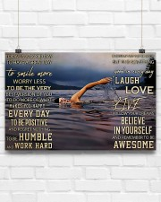 Swimming - Today Is A Good Day To Have A Great Day 17x11 Poster aos-poster-landscape-17x11-lifestyle-17
