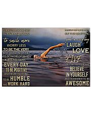 Swimming - Today Is A Good Day To Have A Great Day 17x11 Poster front