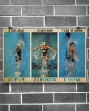 Swimming It's Not A Phase It's My Life  17x11 Poster aos-poster-landscape-17x11-lifestyle-18