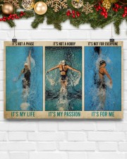 Swimming It's Not A Phase It's My Life  17x11 Poster aos-poster-landscape-17x11-lifestyle-28