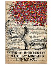 Surfing Into The Ocean I Go To Find My Soul 11x17 Poster front