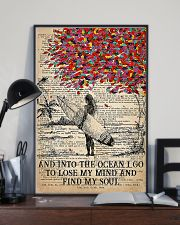 Surfing Into The Ocean I Go To Find My Soul 11x17 Poster lifestyle-poster-2