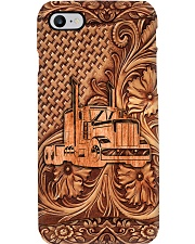 Truck Driver The Truck Wood Carving Art Phone Case i-phone-7-case