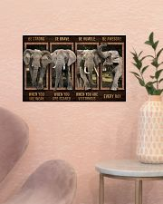 Elephant - Be Awesome Every Day 17x11 Poster poster-landscape-17x11-lifestyle-22