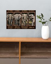 Elephant - Be Awesome Every Day 17x11 Poster poster-landscape-17x11-lifestyle-24