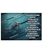 Swimmer Your Character Is More Important  17x11 Poster front