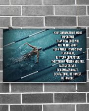 Swimmer Your Character Is More Important  17x11 Poster poster-landscape-17x11-lifestyle-18