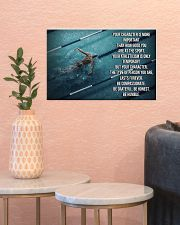 Swimmer Your Character Is More Important  17x11 Poster poster-landscape-17x11-lifestyle-21