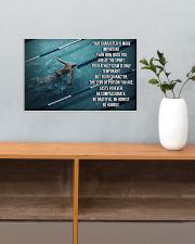 Swimmer Your Character Is More Important  17x11 Poster poster-landscape-17x11-lifestyle-24