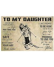 Skiing To My Daughter 17x11 Poster front