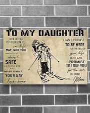 Skiing To My Daughter 17x11 Poster poster-landscape-17x11-lifestyle-18