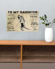 Skiing To My Daughter 17x11 Poster poster-landscape-17x11-lifestyle-24
