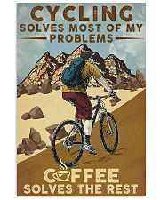 Cycling Solves Most Of My Problems 11x17 Poster front