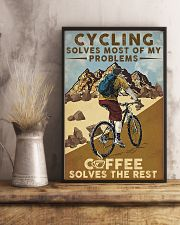 Cycling Solves Most Of My Problems 11x17 Poster lifestyle-poster-3