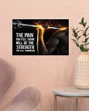Fitness The Pain Today The Strength Tomorrow  17x11 Poster poster-landscape-17x11-lifestyle-22