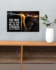 Fitness The Pain Today The Strength Tomorrow  17x11 Poster poster-landscape-17x11-lifestyle-24