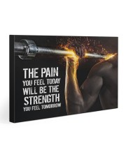 Fitness The Pain Today The Strength Tomorrow  30x20 Gallery Wrapped Canvas Prints thumbnail