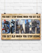 Motorcycle - You Get Old When You Stop Riding 17x11 Poster aos-poster-landscape-17x11-lifestyle-17