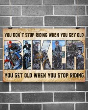 Motorcycle - You Get Old When You Stop Riding 17x11 Poster aos-poster-landscape-17x11-lifestyle-18