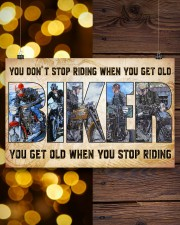 Motorcycle - You Get Old When You Stop Riding 17x11 Poster aos-poster-landscape-17x11-lifestyle-29