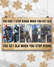 Motorcycle - You Get Old When You Stop Riding 17x11 Poster aos-poster-landscape-17x11-lifestyle-30