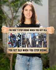 Motorcycle - You Get Old When You Stop Riding 17x11 Poster poster-landscape-17x11-lifestyle-19