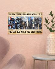 Motorcycle - You Get Old When You Stop Riding 17x11 Poster poster-landscape-17x11-lifestyle-22