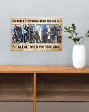 Motorcycle - You Get Old When You Stop Riding 17x11 Poster poster-landscape-17x11-lifestyle-24