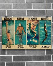 Swimming Be Brave When You Are Scared  17x11 Poster poster-landscape-17x11-lifestyle-18