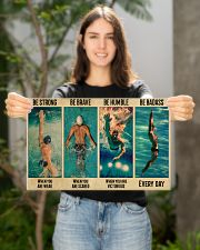 Swimming Be Brave When You Are Scared  17x11 Poster poster-landscape-17x11-lifestyle-19