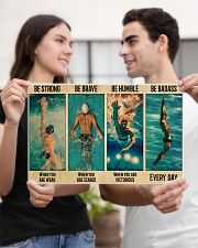 Swimming Be Brave When You Are Scared  17x11 Poster poster-landscape-17x11-lifestyle-20