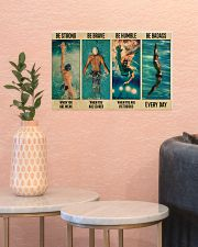Swimming Be Brave When You Are Scared  17x11 Poster poster-landscape-17x11-lifestyle-21
