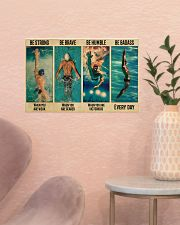 Swimming Be Brave When You Are Scared  17x11 Poster poster-landscape-17x11-lifestyle-22