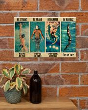 Swimming Be Brave When You Are Scared  17x11 Poster poster-landscape-17x11-lifestyle-23