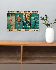 Swimming Be Brave When You Are Scared  17x11 Poster poster-landscape-17x11-lifestyle-24