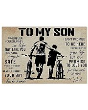 Cycling To My Son 17x11 Poster front
