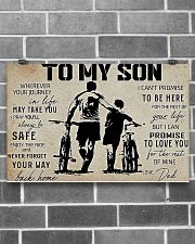 Cycling To My Son 17x11 Poster poster-landscape-17x11-lifestyle-18
