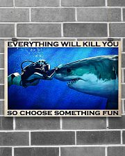 Scuba Diving Choose Something Fun 17x11 Poster poster-landscape-17x11-lifestyle-18