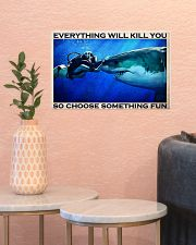 Scuba Diving Choose Something Fun 17x11 Poster poster-landscape-17x11-lifestyle-21
