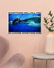 Scuba Diving Choose Something Fun 17x11 Poster poster-landscape-17x11-lifestyle-22