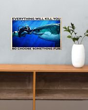 Scuba Diving Choose Something Fun 17x11 Poster poster-landscape-17x11-lifestyle-24