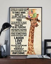 Giraffe - Today Is A Good Day 11x17 Poster lifestyle-poster-2
