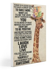 Giraffe - Today Is A Good Day 20x30 Gallery Wrapped Canvas Prints thumbnail