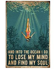 Swimming Into The Ocean I Go To Find My Soul 11x17 Poster front