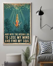 Swimming Into The Ocean I Go To Find My Soul 11x17 Poster lifestyle-poster-1