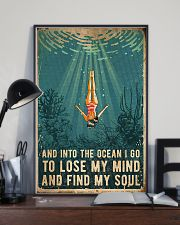 Swimming Into The Ocean I Go To Find My Soul 11x17 Poster lifestyle-poster-2